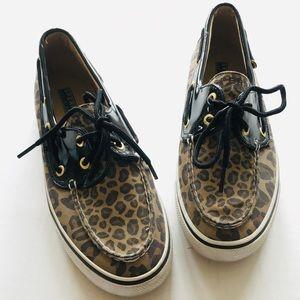 Sperry Biscayne Leopard Shoes, Women's Sz 7
